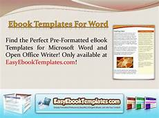Book Templates For Microsoft Word Ebook Templates For Word