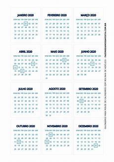 Calendario 2020 Xls Calendario 2020 De Mesa 4 Fazendo A Nossa Festa