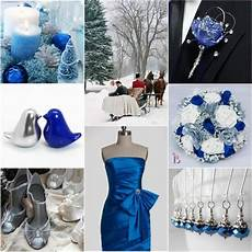 romantic winter wedding colors blue shades silver