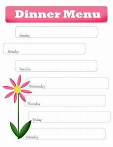 Blank Menus S Menu Planning Free Printable Blank Dinner Menu