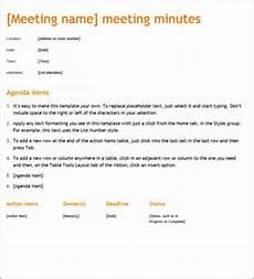 Meeting Minute Sample Meeting Minute Templates Formal Word Templates