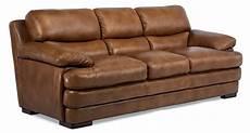 flexsteel latitudes leather stationary sofa