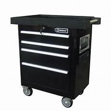 kobalt 4 drawer 27 quot black powder coated steel tool box