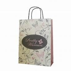 Designer Paper Bags For Sale Floral Pattern Twist Handle Paper Bag Custom Printed