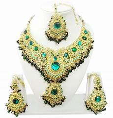 clothes jewelry indian kundan diamante necklace set fashion
