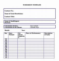 Microsoft Timesheet Templates 26 Monthly Timesheet Templates Free Sample Example