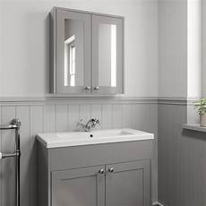 600mm bathroom mirror cabinet 2 door storage cupboard wall