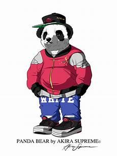 panda supreme wallpaper panda by supreme on behance