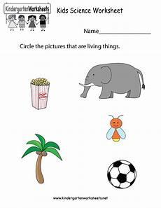 kids science worksheet free kindergarten learning