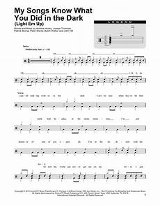 Light It Up Sheet Music My Songs Know What You Did In The Dark Light Em Up Sheet