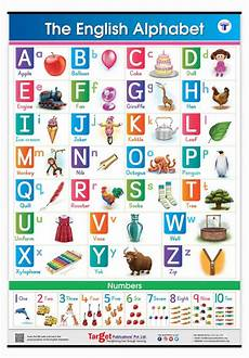 Alphabet And Number Wall Charts Buy English Alphabet And Numbers Chart For Kids Online