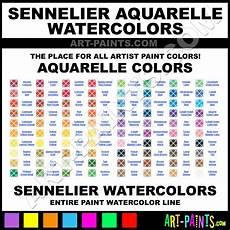 Sennelier Watercolor Chart Sennelier Aquarelle Watercolor Paint Colors Sennelier