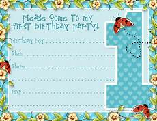 First Birthday Invitation Templates Free Printable 1st Birthday Party Announcements Printable