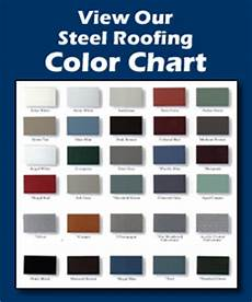 Tin Roofing Color Chart Standing Seam Steel Roofing Golke Bros Steel Roofing Llc