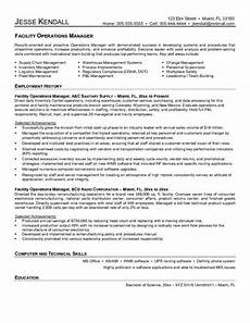 Facilities Manager Resume Facilities Manager Resume Facilities Manager Resume Sample