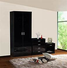 gladini high gloss 3 bedroom furniture set