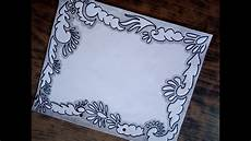 How To Make Chart Paper Decoration Black Border Design White Sheet Decoration Using Black
