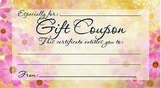 Diy Voucher Template Diy Free Printable Gift Coupon Give A Gift From The