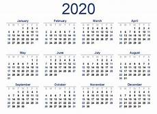 2020 Calendar With Holidays Printable Printable 2020 Calendar Free Blank Templates Calendar