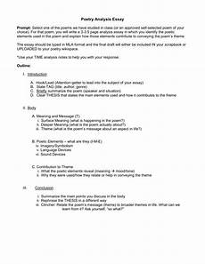 Poem Outline Poetry Analysis Essay Outline Pc Mac