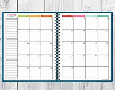 Calender Pages To Print Printable Multi Color 2018 Monthly Calendar Two Page Spread