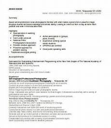 Resume Self Employed 10 Photographer Resume Templates Pdf Doc Free