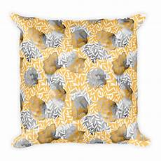 Yellow Accent Pillows For Sofa Png Image by Square Pillow Yellow Poppy Collection 05 Pattern Throw