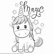 Unicorn Malvorlagen Magic Unicorn Coloring Pages Free Instant