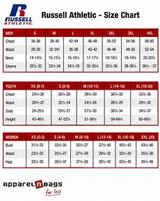 Russell Athletic Jersey Size Chart Russell Athletic Size Chart Apparelnbags Com