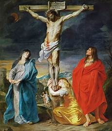 crucifixion with the st and st