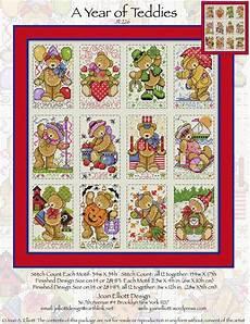 Joan Elliott Cross Stitch Charts A Year Of Teddies From Joan Elliott Cross Stitch Charts
