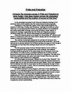 Pride Essay Pride And Prejudice Essay Gcse English Marked By