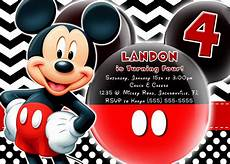 Custom Mickey Mouse Invitations Mickey Mouse And Mickey Mouse Clubhouse Birthday