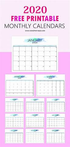 free online printable calendars 2020 free 2020 calendar printable simple and very pretty