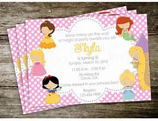 Disney Party Invitations Disney Princess Invitation Birthday Party Inspired By