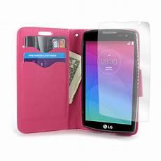 Lg Phone Light Light Pink Wallet Phone Cover Folio Case For Lg Leon