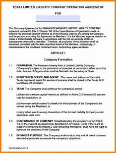 Example Llc Operating Agreement 10 Single Member Llc Operating Agreement Introduction