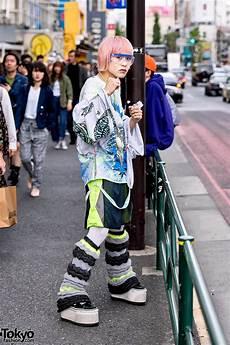 japanese streetwear look w ta2yuki knit harajuku