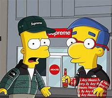 simpsons wallpaper supreme bart supreme wallpapers wallpaper cave