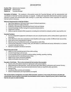 Medical Assistant Duties And Responsibilities List Administrative Assistant Job Opening East Rockhill