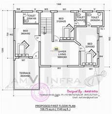 Floor Plan And Elevation Floor Plan And Elevation 2277 Sq Ft House Home Kerala Plans