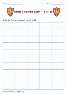 Roman Number 1 To 50 Chart Roman Numerals Chart 1 50 Printable Pdf Download