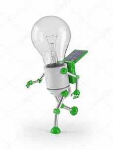 Light Robot Renewable Energy Light Bulb Robot Stock Photo 169 Anhoog
