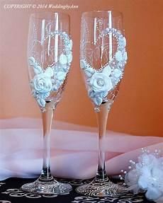 bicchieri decorati personalized wedding chagne glasses handmade toasting