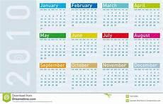 Calnder For 2010 Calendar For Year 2010 Stock Vector Illustration Of