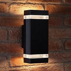 Black Outdoor Up And Down Lights Auraglow Large Outdoor Double Up Amp Down Wall Light