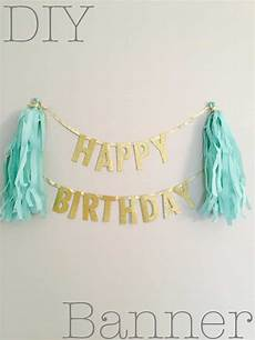 Create A Birthday Banner Say It Out Loud Adorable Homemade Birthday Banners