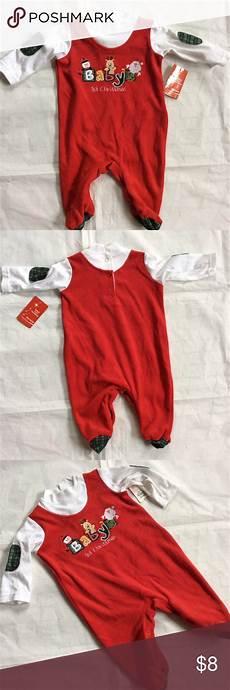 Okie Dokie Clothes Size Chart Nwt Okie Dokie Baby S First Christmas One Piece One
