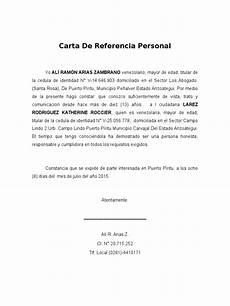 Cartas De Referencias Personal Carta De Referencia Personal
