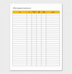Supply Inventory Inventory List Template For Word Excel And Pdf Format